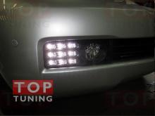 Данный вариант противотуманных фар для Toyota Land Cruiser 200 - ультрасовременное решение в области дополнительной оптики для автомобиля.