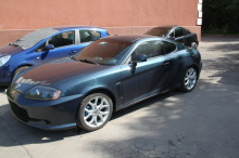 37 Передний бампер - Обвес Aston на Hyundai Tiburon Coupe GK