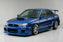 Передний бампер Ings +1 на Subaru Impreza WRX