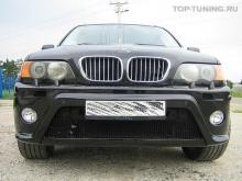 Передний бампер, обвес HRT 2, тюнинг BMW X5 E53