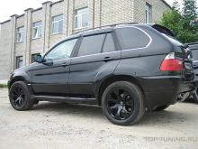 Пороги (пара) - Обвес Aero - тюнинг BMW X5 E53. Доресталинг. Под расширители арок.