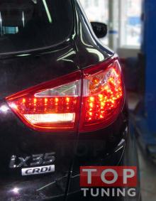 1143 Задние тюнинг-фонари Cayenne Style Red на Hyundai ix35