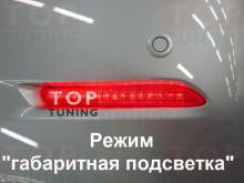 1283 Светодиодные вставки в задний бампер Red Type на Toyota Camry V50 (7)