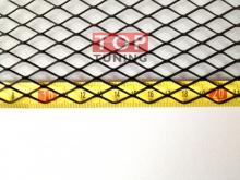 Черная универсальная сетка для бамперов, средняя, размером 1,2х0,4 м.