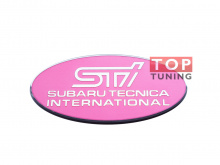 1736 Шильдик STI 80х38 мм на Subaru
