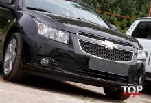 5640 Накладки на переднюю оптику GTR на Chevrolet Cruze 2