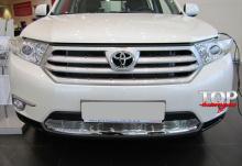 5935 Решетка в бампер на Toyota Highlander 2