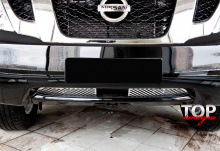 8138 Решетки в бампер Premium на Nissan Patrol Y62