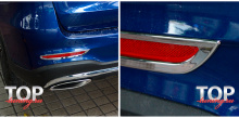 8168 Молдинги рефлекторов заднего бампера Epic на Mercedes GLC X253