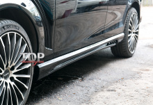 989 Накладки на пороги - обвес Wald на Mercedes C-Class W204