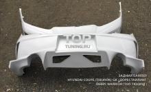 Агрессивный, стильный, дизайнерски продвинутый задний бампер для Хендай Купе созданный тюнинг ателье Mussa.