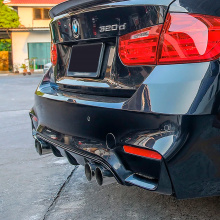 10140 Двуствольные насадки заднего бампера M3 Look для BMW 3 F30