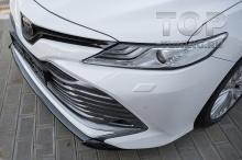 10180 Накладка Consul Light на передний бампер для Toyota Camry XV70