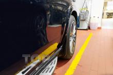 10181 Передние брызговики под пороги-ступени для Mercedes GLE (AMG) V167