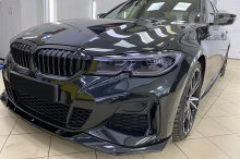 10197 Передние клыки Liberty на пороги BMW 3 G20