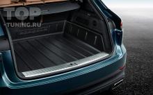 коврик в багажник с большими боковыми бортиками для Porsche Cayenne E3 с 2018 года выпуска.