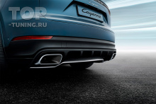 10249 Декоративная накладка заднего бампера Porsche Cayenne E3