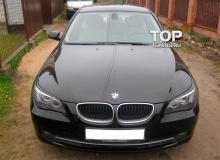 1025 Реснички - накладки на фары на BMW 5 E60, E61, M5