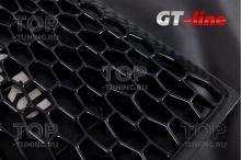 Пластик решетка - черная, шестигранник. Лист 120*55 см