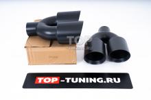 Тюнинг выхлопной системы - Насадки 120*2, двухствольные. Вход 75 мм