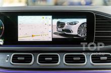 Разделение экрана. Яндекс навигация и видео в штатной мультимедиа Мерседес - дооснащение