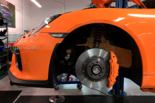 Качественное окрашивание тормозной системы Porsche
