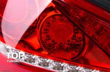 1141 Задние светодиодные фонари Superlux Red на Hyundai Genesis 1