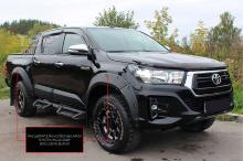 Расширители колёсных арок (вынос 50 мм) Toyota Hilux 2018- (Exclusive Black)
