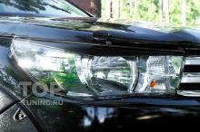 Накладки на передние фары (реснички) Toyota Hilux