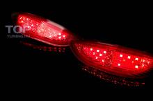 Дополнительные светодиодные габаритные огни для Hyundai Solaris в кузове седан.
