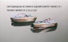 Рефлекторы-катафоты заднего бампера ТИТАНИУМ Тюнинг оптики Infiniti QX (FX 2) 2008-2012