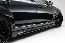Накладки на пороги BLACK BISON WALD для Mercedes S-Class W221 - дорестайлинг.