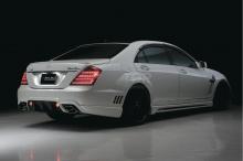 Задний бампер для рестайлинговой версии Mercedes Benz W221.