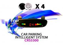 Универсальные парктроники Car System Refine, с потолочным индикатором расстояния, 4 парктроника черного или серого цвета.