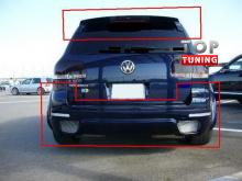 Накладка заднего бампера IKKI на VW Touareg.(Рестайлинг)