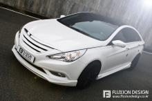 Тюнинг Hyundai Sonata YF - комплект накладок и решетка.