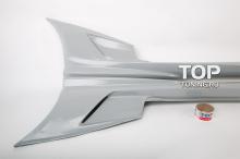 Накладки на пороги - Модель Tomato - Тюнинг Hyundai Tiburon Coupe.