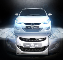 Тюнинг на Hyundai Elantra 5 (V) - решетка облицовки радиатора M&S