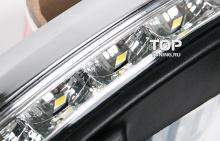 1833 Дневные ходовые огни в корпусе Auto Lamp Рестайлинг на Hyundai Santa Fe 2 (CN)