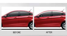 Дефлекторы на боковые окна Hyundai Солярис (Accent)