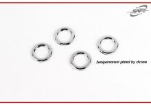 Пластиковые накладки - молдинги на задние рефлекторы и кольца на парктроники, ПТФ - модельK-534 -Стайлинг Хендай Солярис хетчбек.