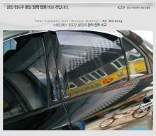 Стайлинг Хендай Соларис в кузове седан - комплект хромированных накладок на окна