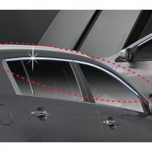 Хромированные молдинги боковых окон - тюнинг Хендай Соларис - производитель Auto Clover