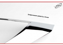 Хромированные накладки передней оптики - стайлинг Хендай Соларис.