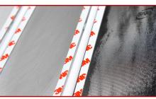 Хромированные накладки центральных стоек - тюнинг Хендай Соларис - производитель Kyung Dong