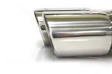 Двойная насадка глушителя из нержавеющей стали со входом 48мм, цена 1000р.