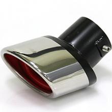 Выхлопная насадка на глушитель Puzzle, с красным центром, скошенный угол. Вход 58 мм