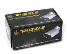 Упаковка. Насадка на глушитель Puzzle PZ-1013 Одноствольная. Полированная нержавеющая сталь. Цена 1300 руб. - за штуку.