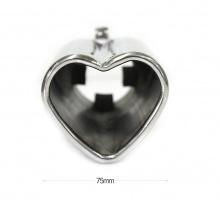 Насадка на выхлоп - Heart Style - нержавеющая сталь