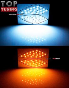 Сверх-яркие, 24w, светодиодные модули-вставки в противотуманные фары